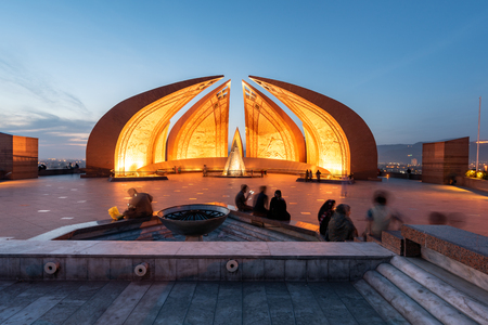 Peopel enjoying their time at Pakistan Monument located in Islamabad Pakistan