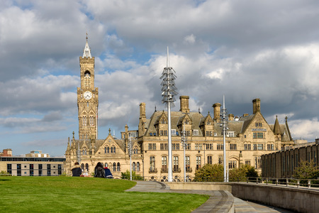 Bradford, West Yorkshire, England  is notable for its landmark bellclock tower.