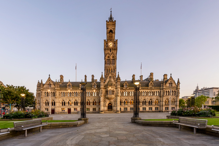 Bradford Cityhall was designed in the Venetian style. Editorial
