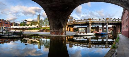 Famous Castlefield landmarks  of Manchester, UK.
