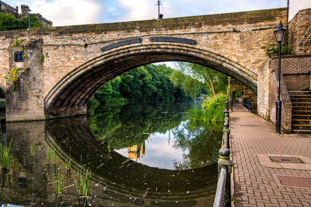 One of the many bridges over river weir in Durham, UK.