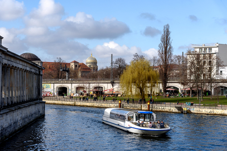 The boat passes many popular sights of Berlin city.
