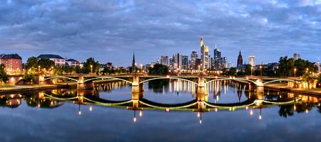 Panoramic view of Frankfurt city and its beautiful skyline Stock Photo