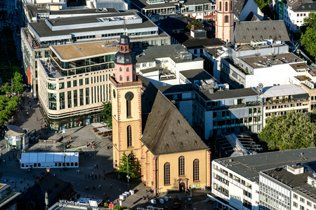 St. Catherines Church is the largest Protestant church in Frankfurt am Main, Germany Stock Photo