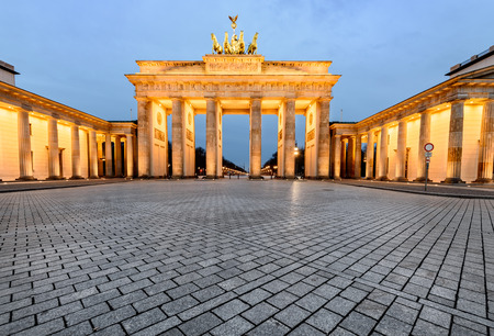 Brandenburg Gate was built on the site of a former city gate that marked the start of the road from Berlin to the town of Brandenburg an der Havel, which used to be capital of the Margraviate of Brand