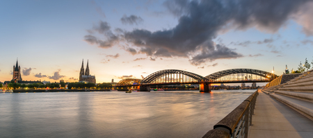 The Hohenzollern Bridge is a bridge crossing the river Rhine in the German city of Cologne.