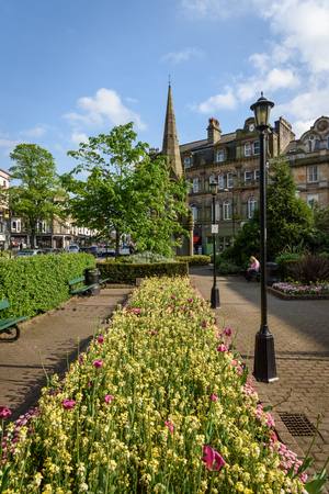 Harrogate is a picturesque town in West Yorkshire, England. Banque d'images - 122329339