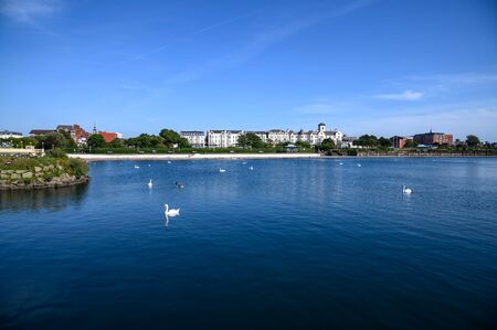 Clear summer day in the seaside town of Southport, England. Stock fotó
