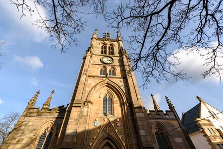 Blackburn Cathedral is one of England's newest Cathedrals, yet it is one of the country's oldest places of Christian worship, Blackburn , Lancashire, UK. Banque d'images