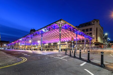 Victorian covered market in Preston has embraced both old ironwork and new steelwork.