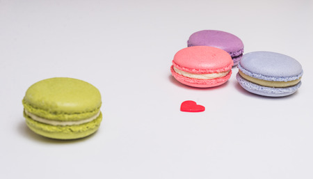 colorful French macaron isolated over white
