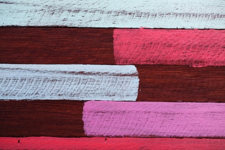 colorful stripe painted on wooden panel photo