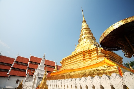 Golden Pagoda in Nan Provice  North of Thailand   photo