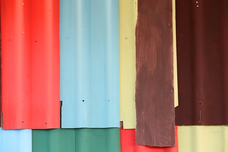 coate: abstract of colorful roof. Stock Photo