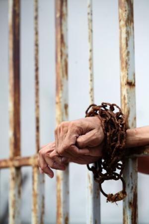 hand in jail Stock Photo - 21005792
