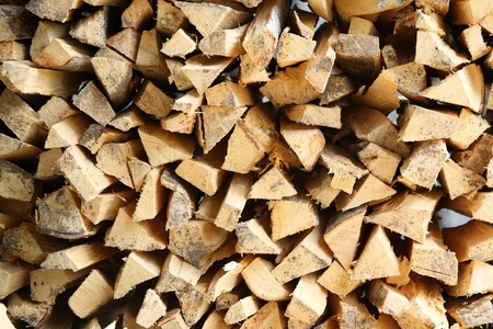 Pile of chopped fire wood  photo