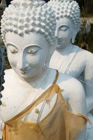 ourdoor: white buddha statue at ourdoor