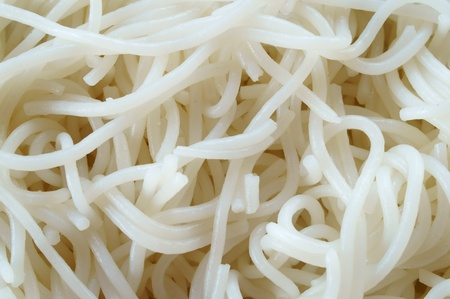 boiled Thai rice vermicelli photo