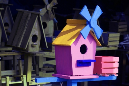 colorful birdhouse  photo