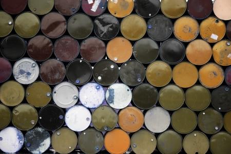 stack of metal barrel  photo