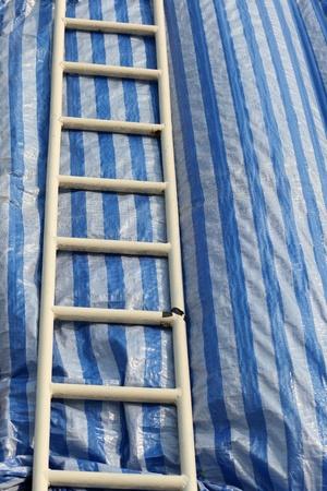 grungy white ladder. photo
