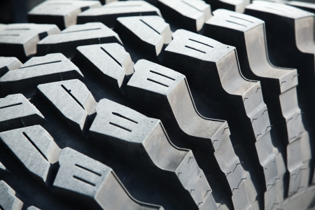 crosscountry: close up of mud terrain tyre. Stock Photo