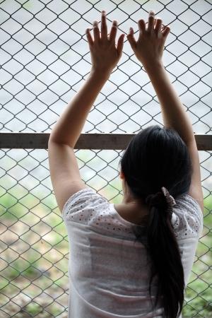 women in jail. Standard-Bild