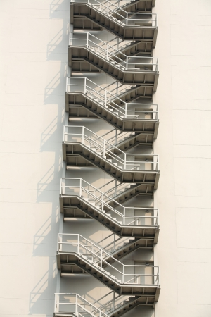 escapes: external fire escapes in a modern building  Stock Photo