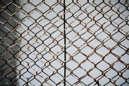 grunge metal fence  photo