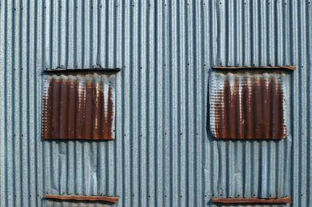 zinc: rusty zinc wall