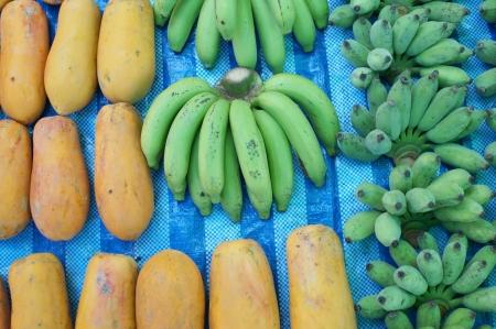 papaya and banana photo