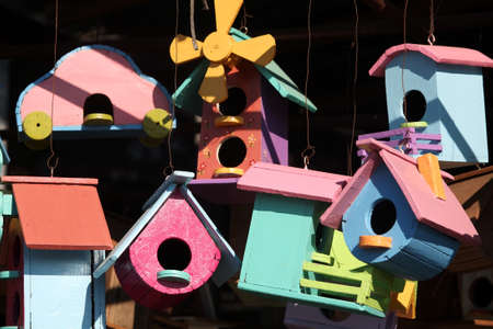 creative wooden birdhouse  photo