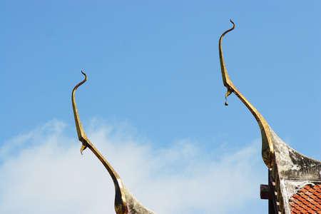 apex: gable apex against blue sky