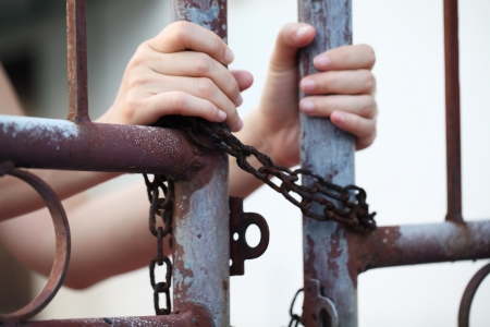 hand in jail Stock Photo - 21244852