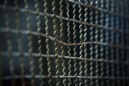 metal fence background Stock Photo - 21244961