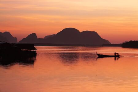 morning at samchong bay,phangnga province,THAILAND. photo