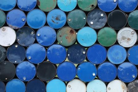 crude oil: barrels stack  Stock Photo