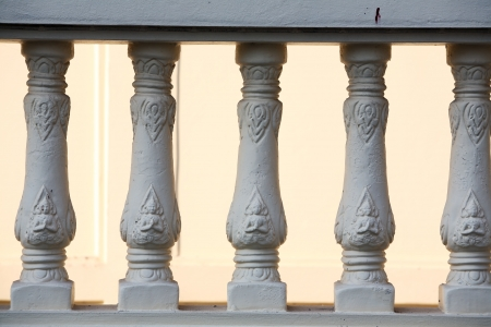 thai balustrade background  photo