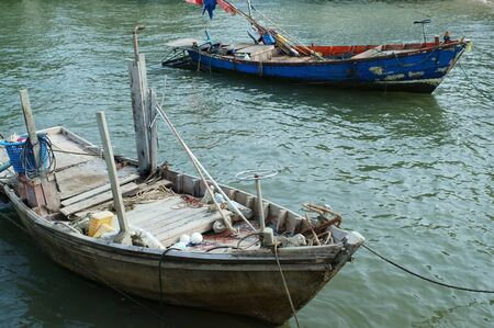 old fishing boat  photo