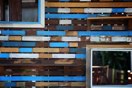 colorful wooden partition  photo