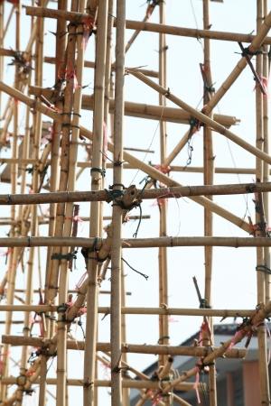 bamboo scaffolding  photo