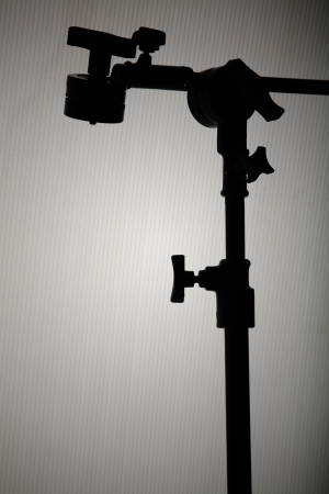 silhouette of lighting stand  photo
