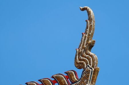 Detail of Thai temple roof photo