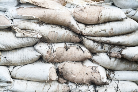 old sandbag wall  photo