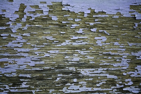 weathered peeling painted wooden panel photo