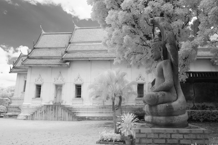 thai temple in infrared  photo