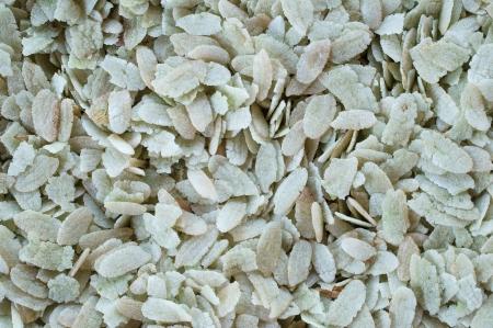 pounded unripe rice background. photo