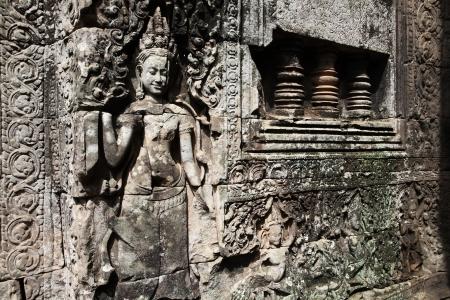 Beautiful Apsara Statues at Bayon Temple  Angkor, Cambodia  photo