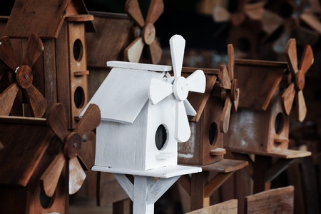 windmill bird house  photo