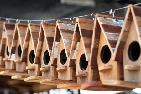 wooden bird house  photo